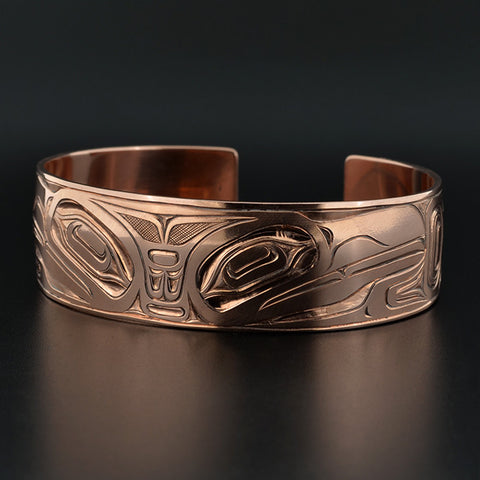 Raven and Eagle - Copper Bracelet
