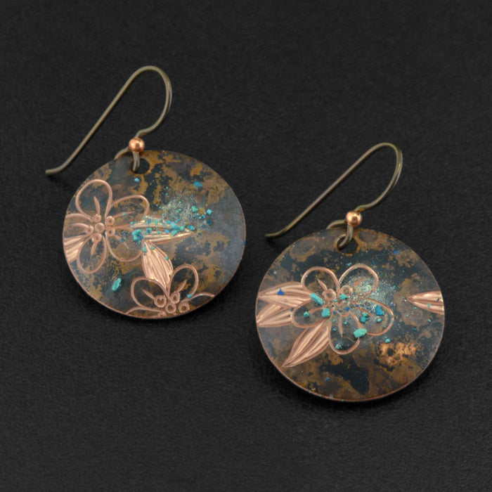 Forget-Me-Nots - Copper Earrings