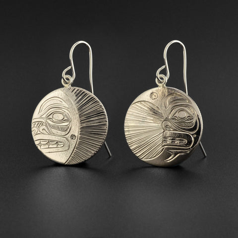 Sun and Moon - Silver Earrings