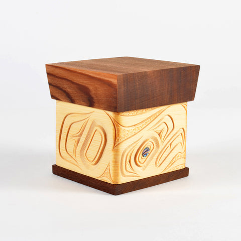 Eagle - Bentwood Box with Abalone