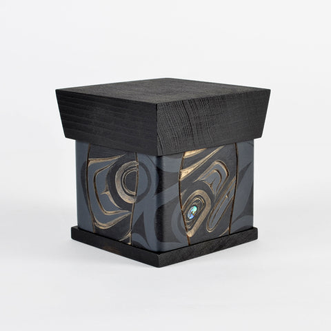 Raven - Bentwood Box with Abalone