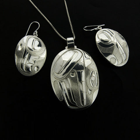 Abstract - Silver Jewellery Set
