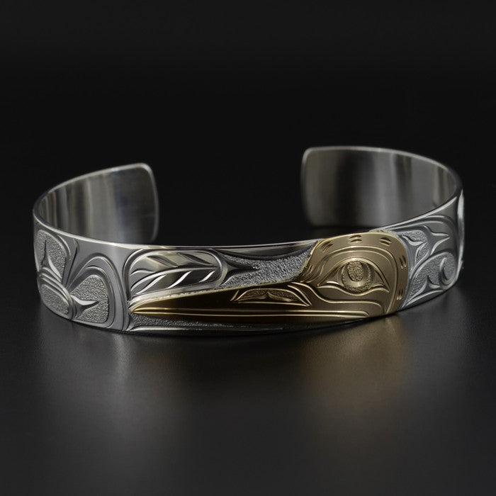 Hummingbird - Silver Bracelet with 14k Gold