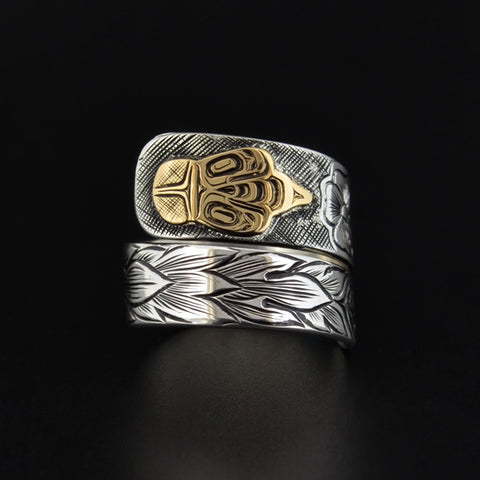 Bee - Silver Wrap Ring