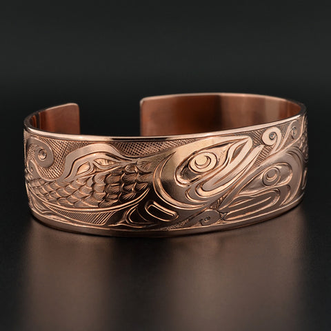 Salmon - Copper Bracelet