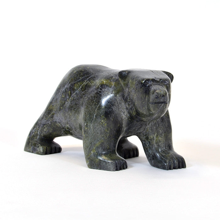 Walking Bear - Stone Sculpture