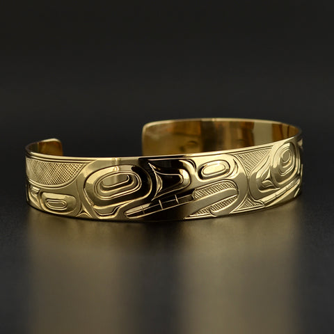 Thunderbird and Killerwhale - 14k Gold Bracelet