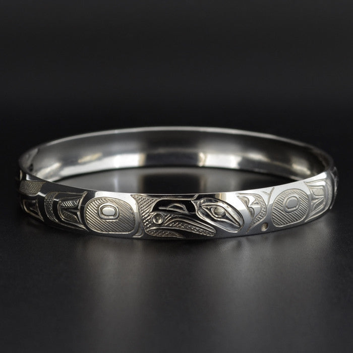 Raven and the Light - Silver Bracelet