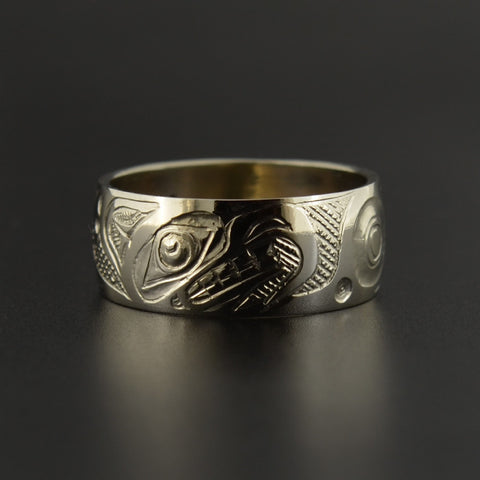 Thunderbird - 14k White Gold Ring