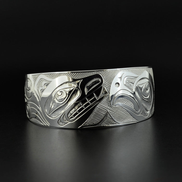 Bear and Eagle - Silver Bracelet