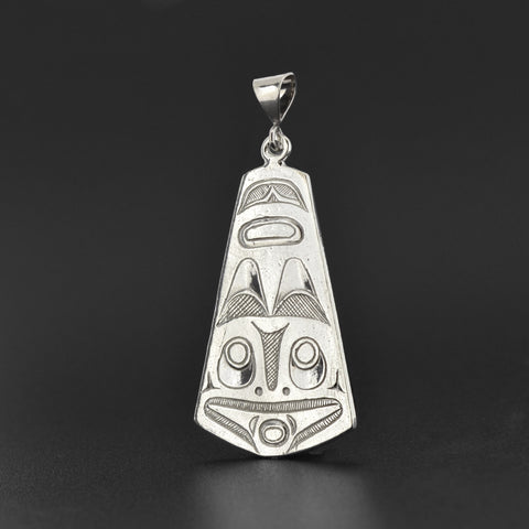 Raven and Frog - Silver Pendant