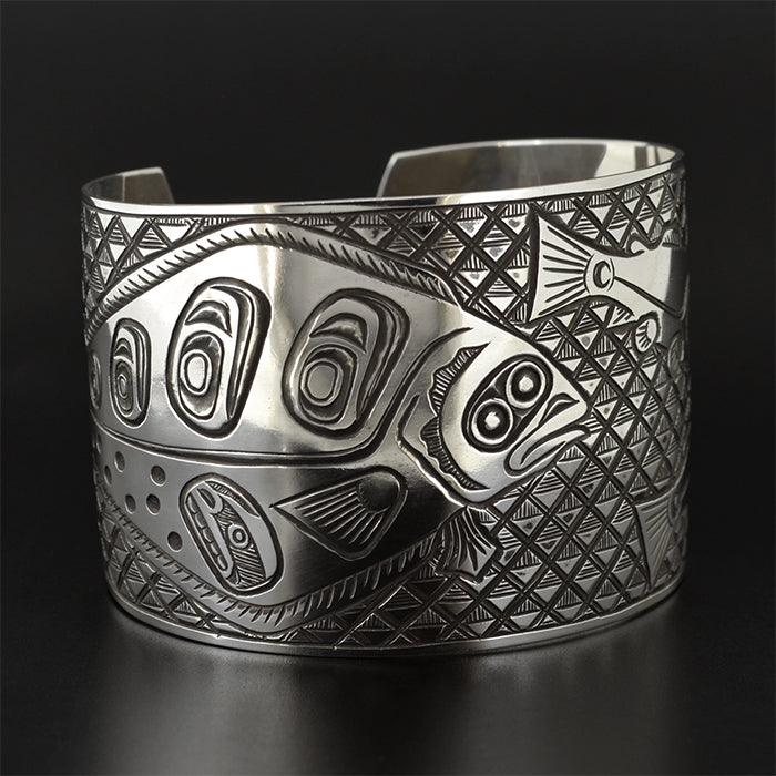 Halibut and Salmon - Silver Bracelet