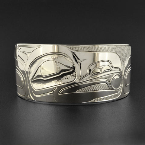 Raven and Light - Silver Bracelet