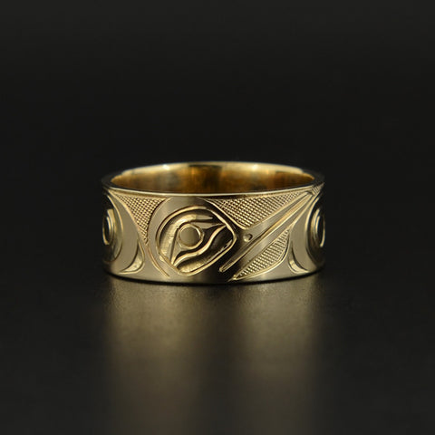 Hummingbird - 14k Gold Ring