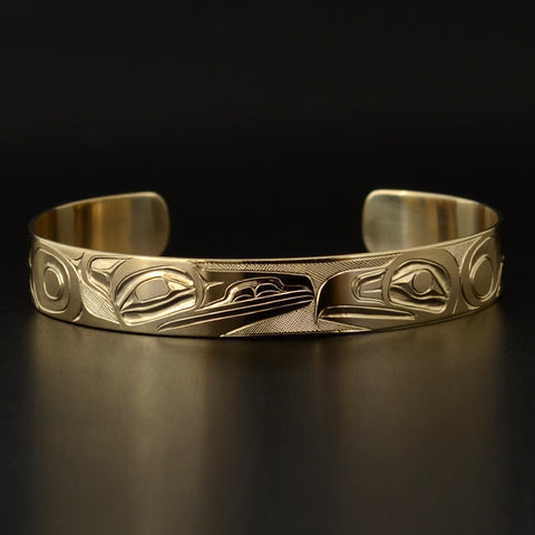 Raven and Eagle - 14k Gold Bracelet