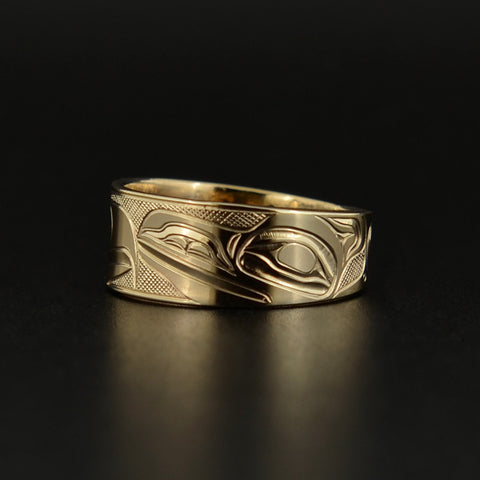 Raven and Eagle - 14k Gold Ring
