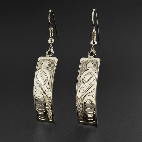 Raven - Silver Earrings