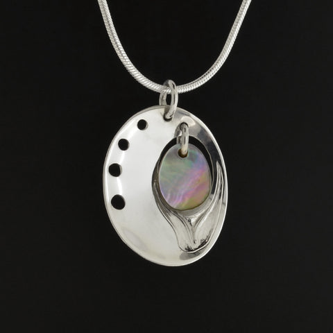 Abalone - Silver Pendant with Abalone