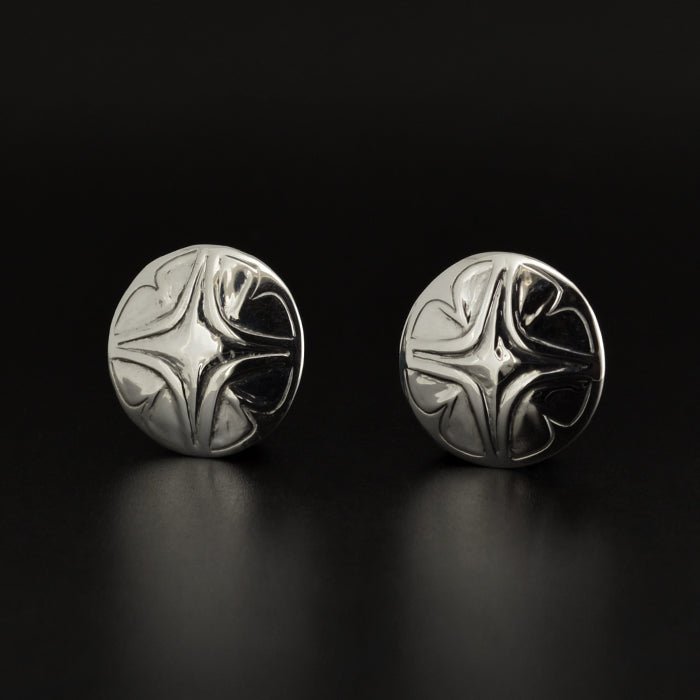 Floral - Silver Studs