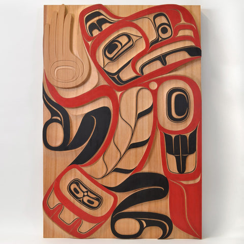 Eagle of the Heavens - Red Cedar Panel