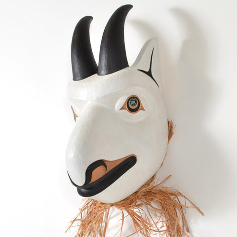 Honouring the Mountain Goat - Red Cedar Mask