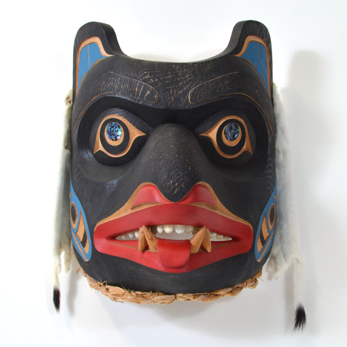 Old Bear Chief - Red Cedar Mask