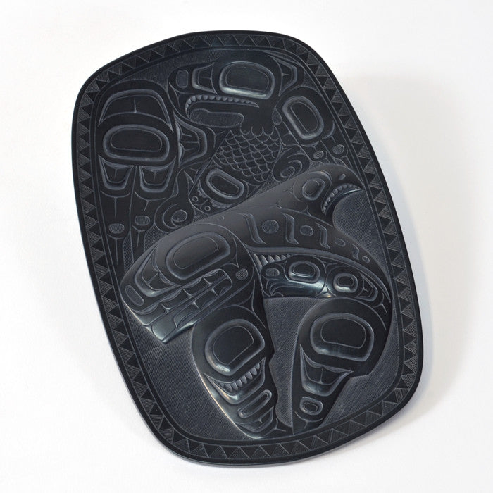 Eagle and Killerwhale - Argillite Plate
