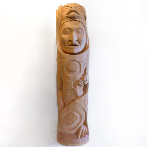 Txa'msem Brings Fire - Red Cedar Totem Pole