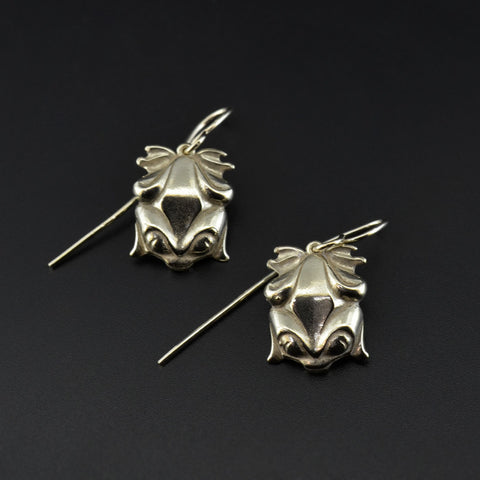 Frogs - 14k Gold Earrings