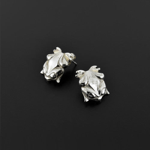 Frogs - Silver Stud Earrings