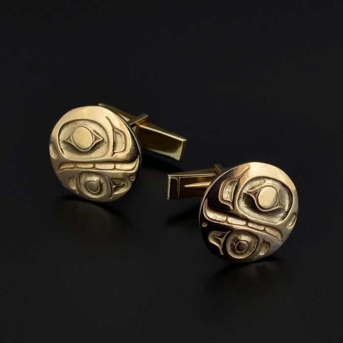 Killerwhale - Gold Cufflinks