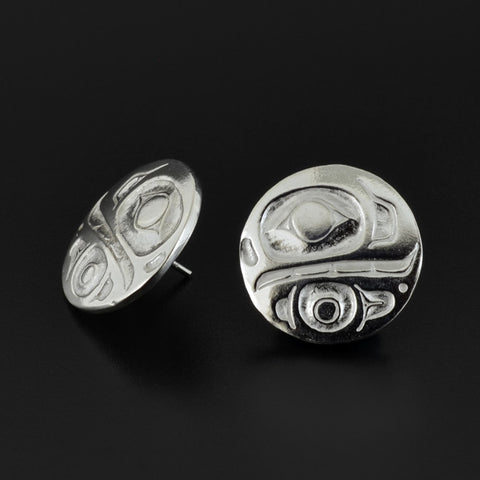 Killerwhale - Silver Stud Earrings