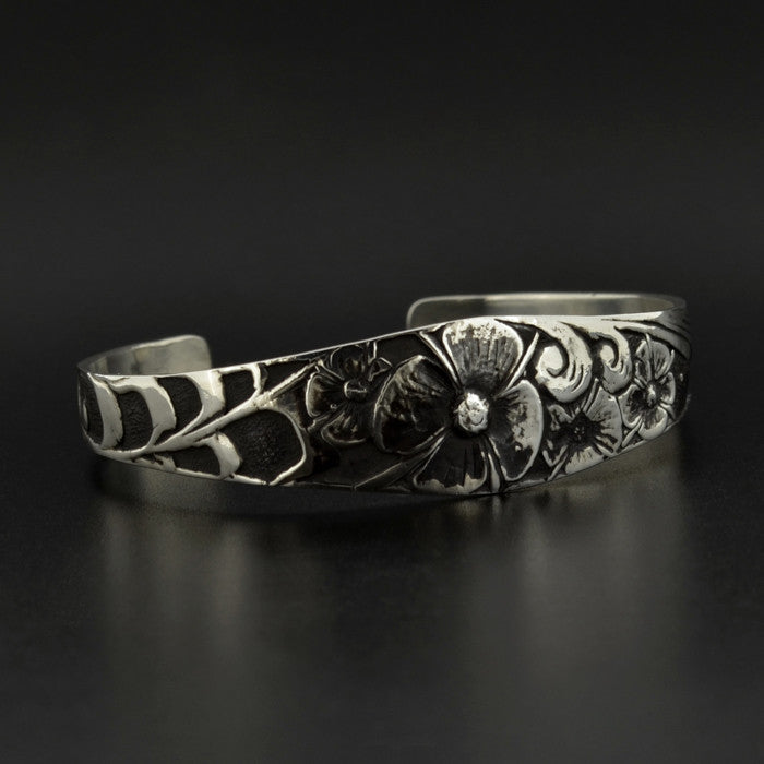 Fireweed - Silver Bracelet with Oxidization