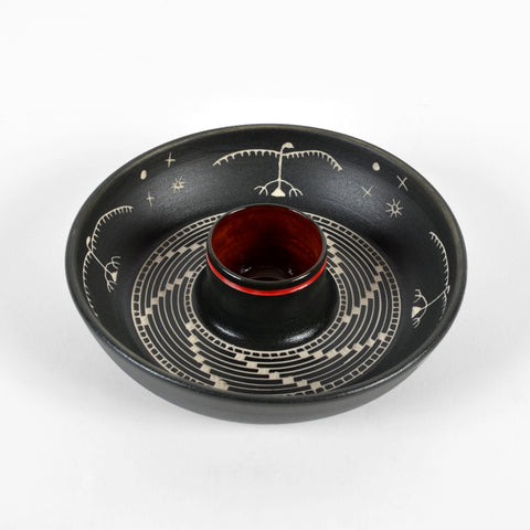 Thunderbird - Hand Carved Ceramic Smudge Bowl