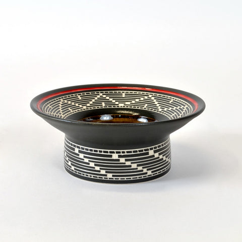 Weaving - Hand Carved Ceramic Smudge Bowl