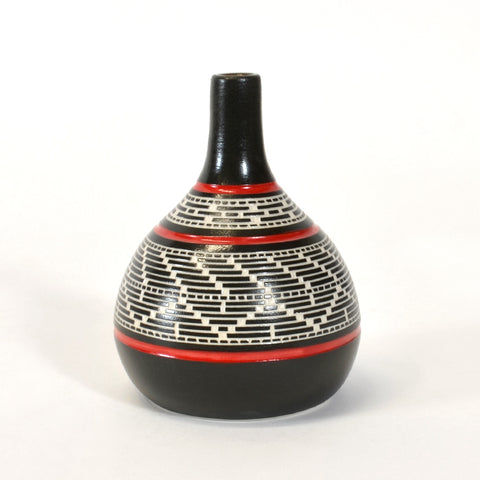 Weaving - Hand-Carved Ceramic Vase
