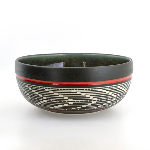 Weaving - Hand Carved Ceramic Bowl
