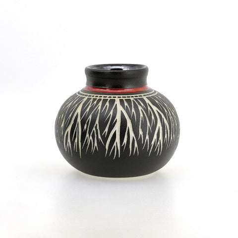 Roots - Hand Carved Ceramic Vase