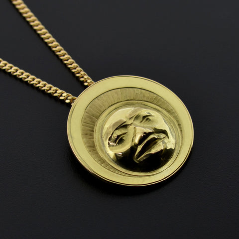 Moon - 14k Gold Pendant