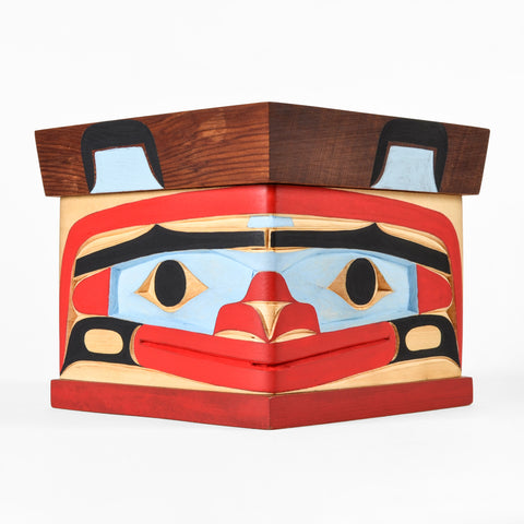Bear - Red and Yellow Cedar Bentwood Box