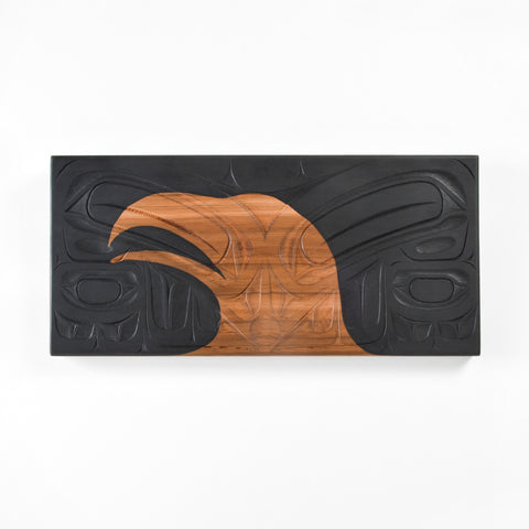 Baby Raven Sees Its Future - Red Cedar Panel