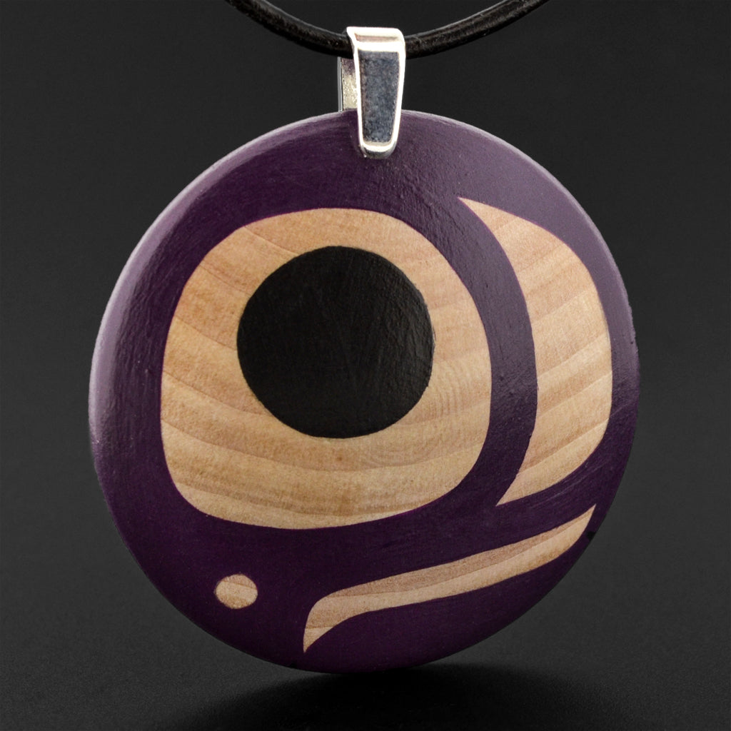 Salmon Egg - Maple Pendant