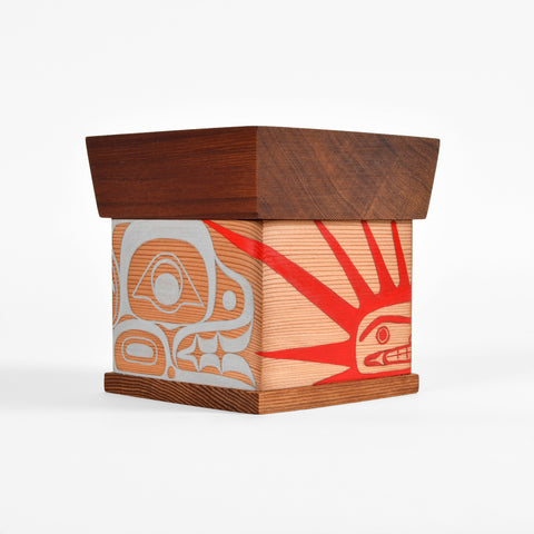 Sea Urchin and Otter - Bentwood Box