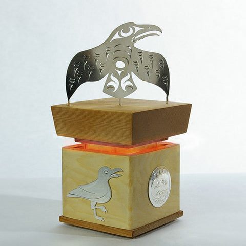 Raven, Seagull and Daylight - Cedar Bentwood Box