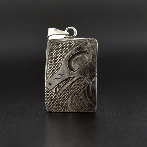 Wolf - Silver Pendant with Oxidization