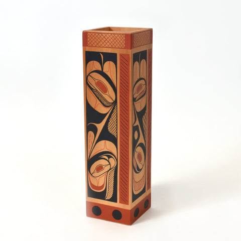 Patience and Understanding - Red Cedar Vase