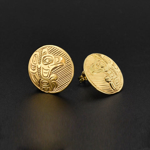 Eagle - 14k Gold Stud Earrings
