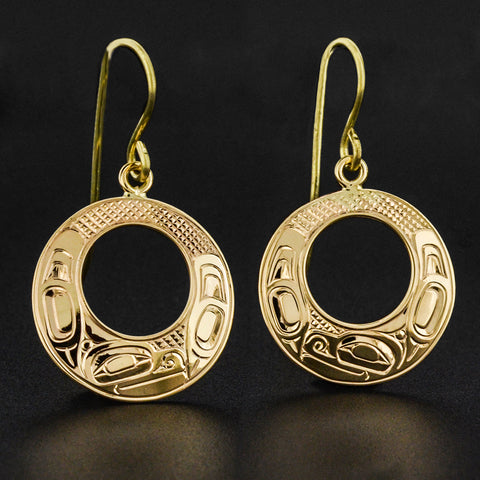 Orca - 14k Gold Earrings