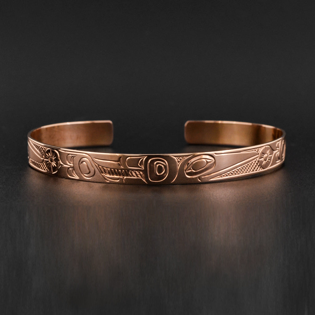 Hummingbird - 14k Rose Gold Bracelet