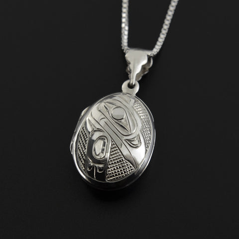 Raven and Eagle - Silver Locket